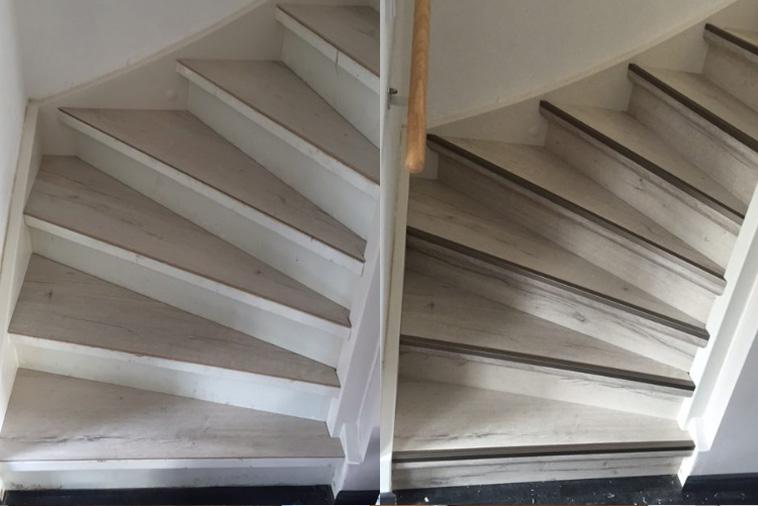 Laminaat Frans Eiken : Traprenovatie met laminaat traprenovatiestyle